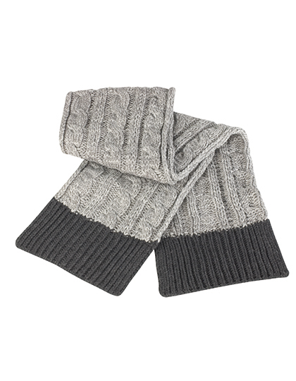 dobler werbetextilien shades of grey knitted scarf. Black Bedroom Furniture Sets. Home Design Ideas